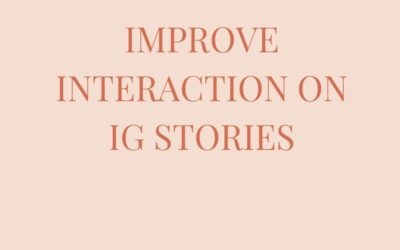 Improve Interaction on IG stories